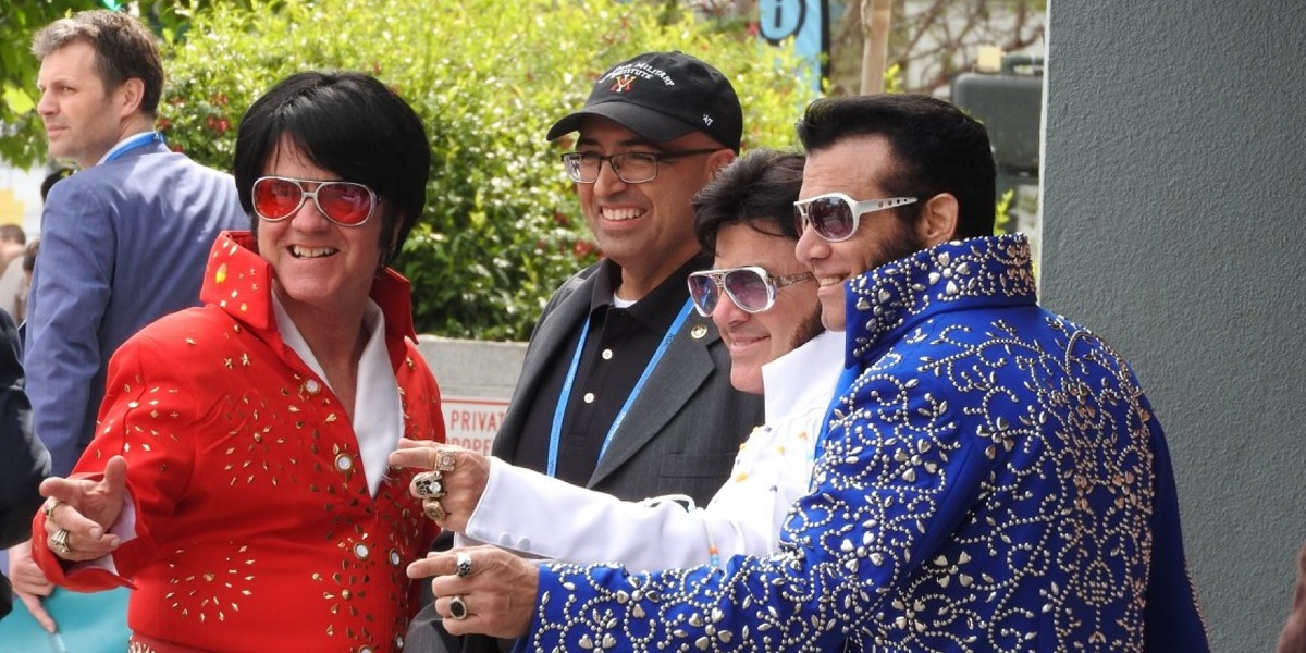Elvis impersonators at the RSA security conference in San Francisco.