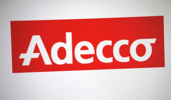 """FEBRUARY 27, 2014 - BERLIN: the logo of the brand """"Adecco""""."""