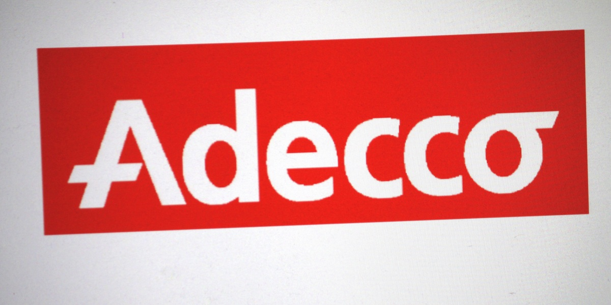 "FEBRUARY 27, 2014 - BERLIN: the logo of the brand ""Adecco""."