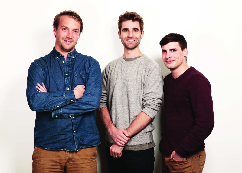 Back Market co-founders (left to right): Thibaud, Vianney, Quentin