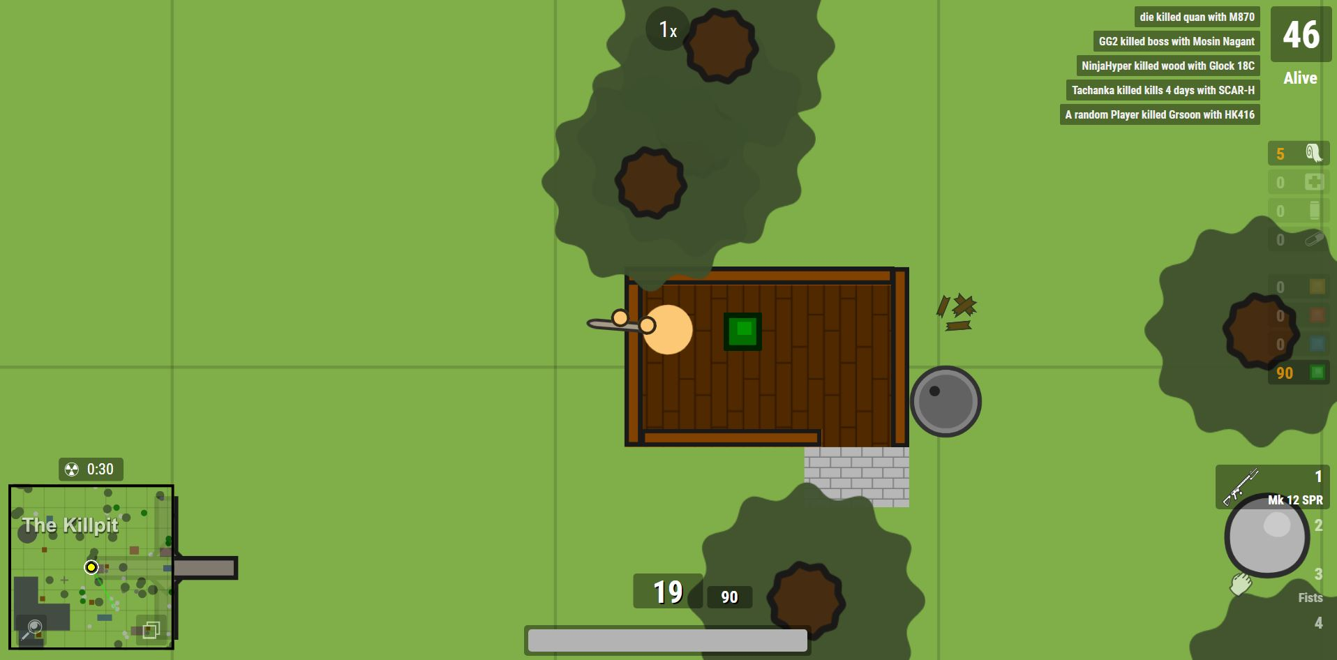 Surviv io: Battle Royale is faster and more accessible than