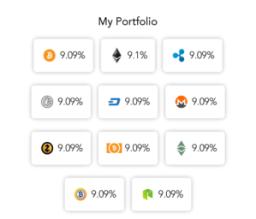 Investment in cryptocurrency portfolio valuation