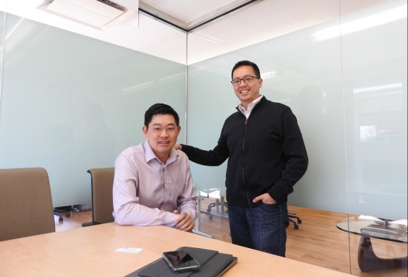 Carey Lai (left) and Paul Yeh of Conductive Ventures in Palo Alto