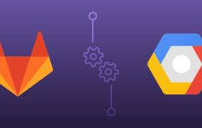 Logos of GitLab and Google Cloud Platform