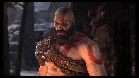 Kratos character model is filled with detail.
