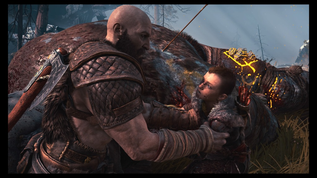 Kratos being stern again!