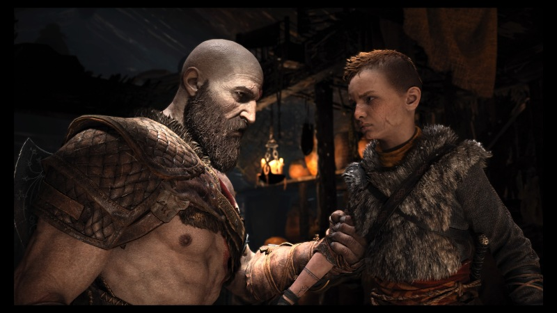 Kratos being all stern and stuff.