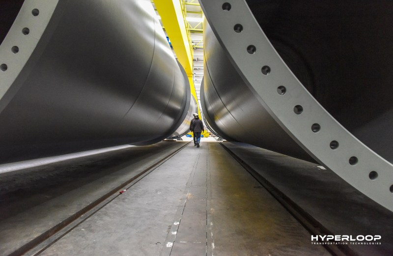 Full-Scale Hyperloop Tubes Arrive in HypleroopTT's Toulouse R&D Center.