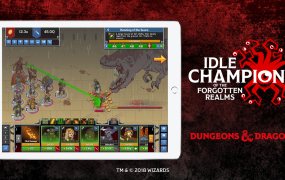 Idle Champions of the Forgotten Realms is coming to tablets.