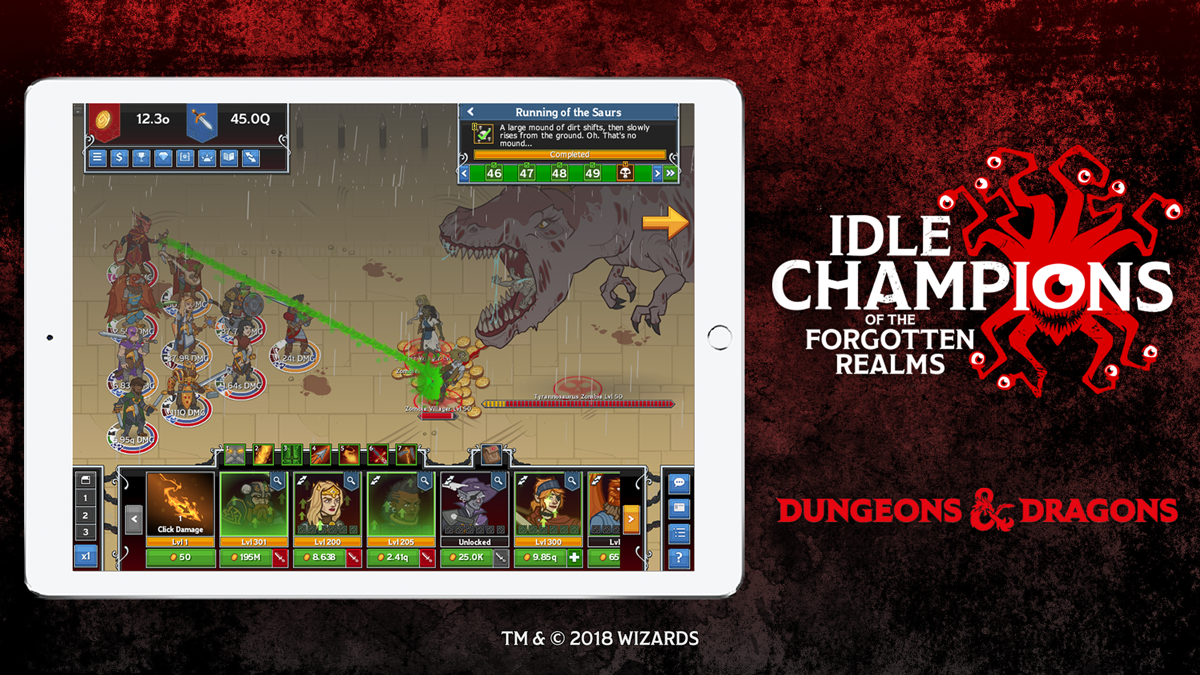 Idle Champions of the Forgotten Realms is tapping its way to