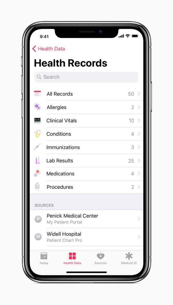 Apple's iOS 11.3 electronic health record initiative