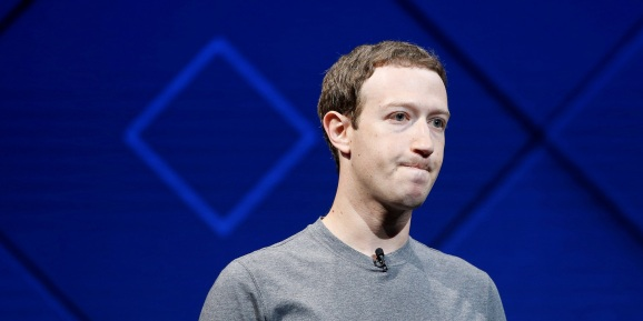 Facebook founder and CEO Mark Zuckerberg speaks on stage during the annual Facebook F8 developers conference in San Jose, California.