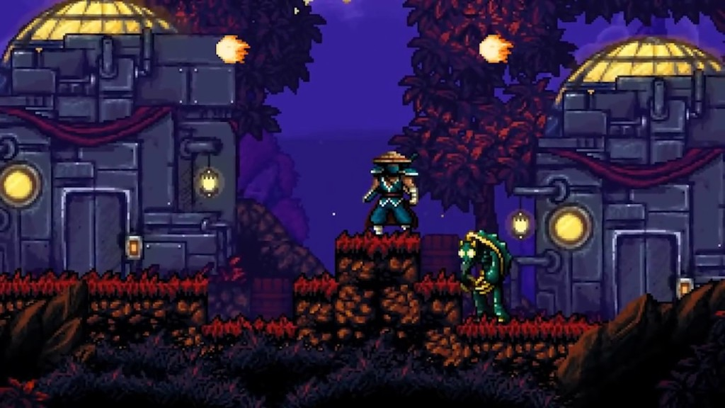 The 16-bit visuals in The Messenger.