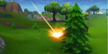 Watch Fortnite's meteorites crash near players as Epic teases Season 4