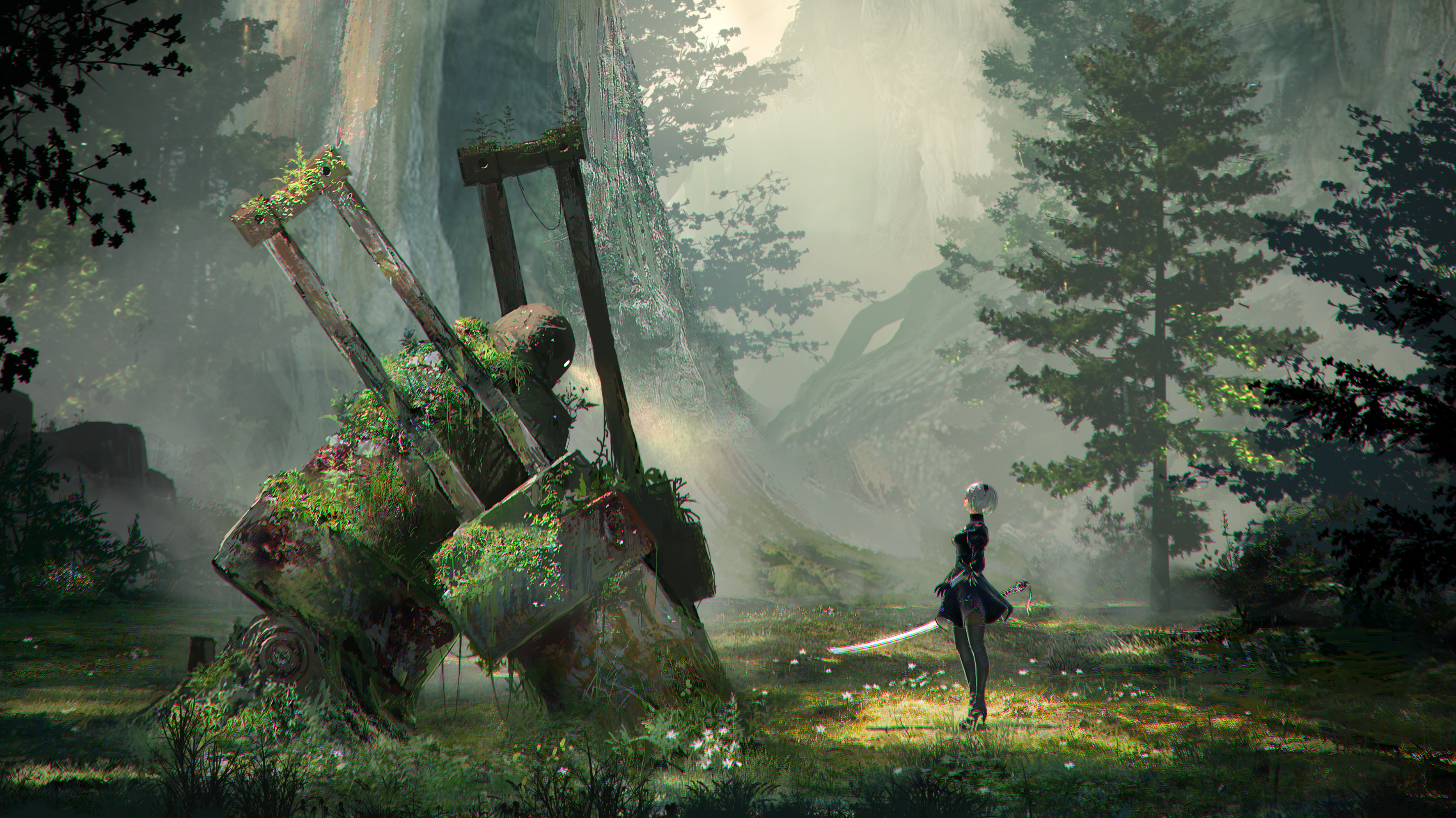 photo image Nier: Automata's creators explain why games probably won't let you kill real people