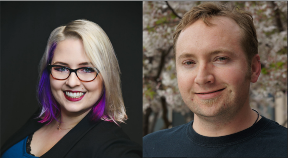 Katie Kaitchuck (left) is GaymerX's new executive director and Cade Peterson (right) is the new CEO of MidBoss.