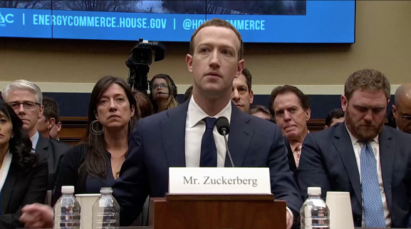 Mark Zuckerberg testifies in front of the House Energy and Commerce Committee on April 11, 2018.