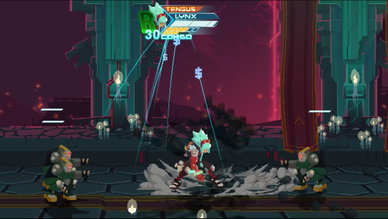 Kopskop's Shattered Realms is a side-scrolling beat-'em-up inspired by classics.