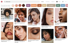 Pinterest's new discovery features, out in beta today,