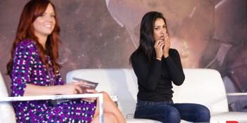 Andrea Rene and Janina Gavankar at GamesBeat Summit 2018.