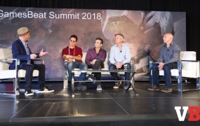 "(Left to right) The Leisure Economy panelists: Adam Sessler, Co-Founder of Spiketrap; Jon ""Neverdie"" Jacobs, CEO of Neverdie Studios; Gio Hunt, EVP & Executive Producer of Platform Technology & Experiences at Blizzard Entertainment; Philip Rosedale, Founder & CEO of High Fidelity; Craig Donato, CBO at Roblox"