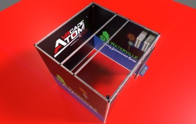 The VRcade Atom is smaller virtual reality arcade booth.