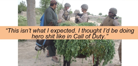 Andrew Barron heard a soldier say this while deployed in Afghanistan.