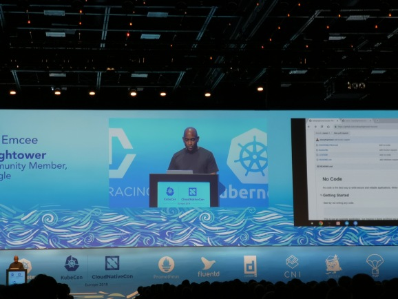Google's Kelsey Hightower speaks at KubeCon.