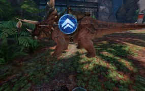"Ark Park for PSVR allows you to ride on a dinosaur's back - when the ""mount dinosaur"" button works."
