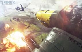 Battlefield V aerial dogfight.