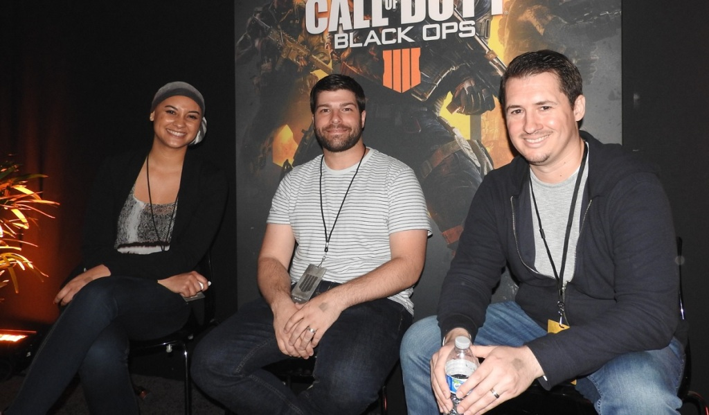 Brittany Pirello, Miles, and Tony Flame of Treyarch.