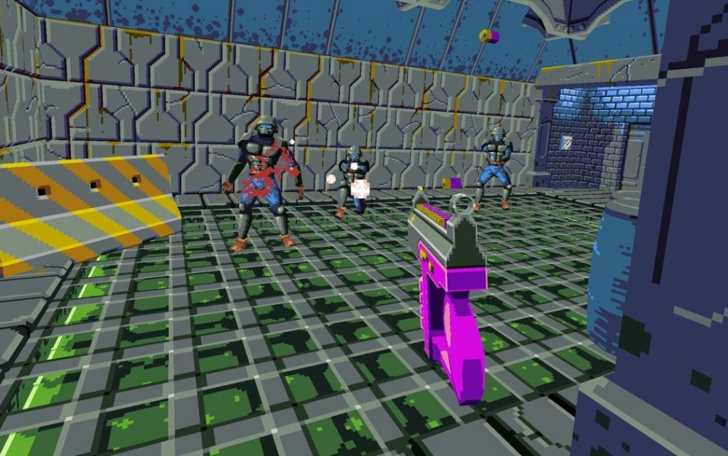 Compound is an Wolfenstein 3D-style Shooter in VR