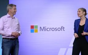Microsoft's Megan Saunders and Amazon's