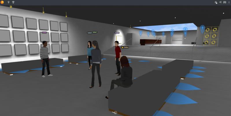 Multi-user virtual seminar powered by Learnbrite