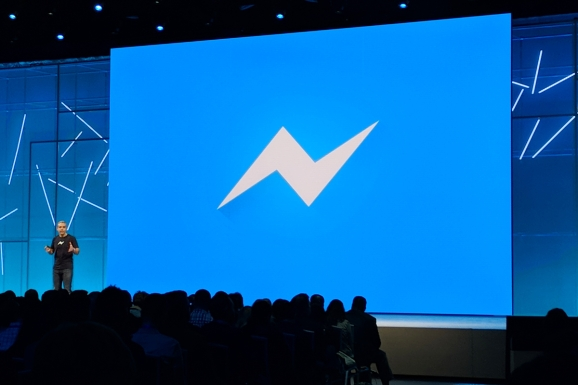 Facebook VP David Marcus delivers a keynote address at Facebook annual developer conference F8 held May 1-2, 2018 at the McEnery Convention Center in San Jose, California