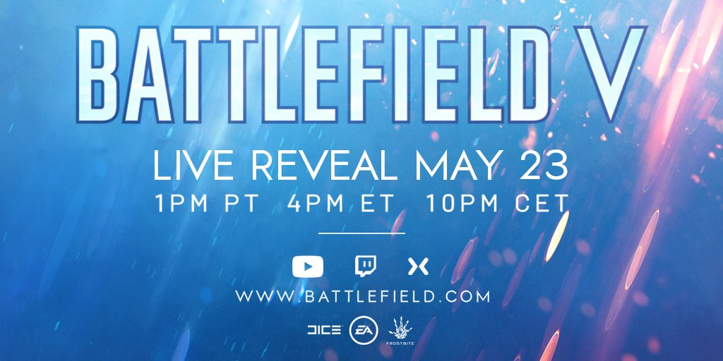 Battlefield V Confirmed By EA, Reveal Date and Time Announced