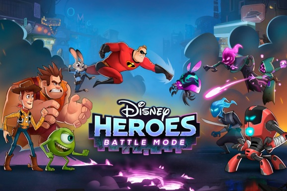Disney Heroes: Battle Mode pits Disney and Pixar characters against an evil virus.