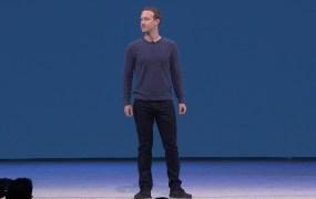 Mark Zuckerberg on stage at F8.