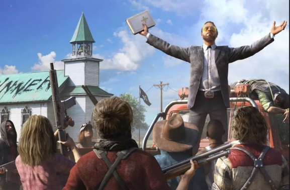 """Far Cry 5's ad declares, """"Nothing ever happens around here."""""""