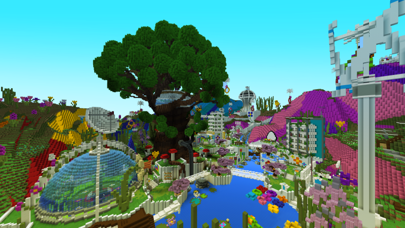 """""""Take a tour around the luscious Rainbow Resort and spring into a new season of mini-games. Flower Hop, Plant Melee, Rubber Ducky Racing and more!"""""""