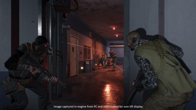 The laser beams definitely help you aim in VR.
