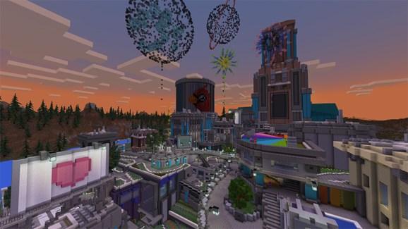 Fireworks explode over Oropia.