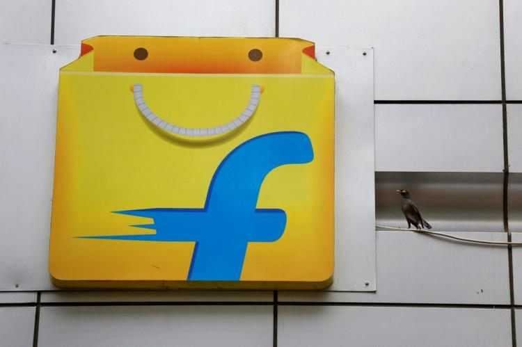 The logo of India's e-commerce firm Flipkart installed on the company's office in Bengaluru, India April 12, 2018.