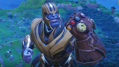 watch thanos dab destroy and dance in fortnite - thanos mode fortnite trailer