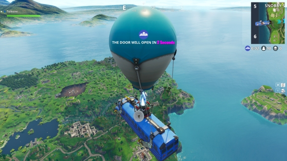 Tilted Towers still stands.