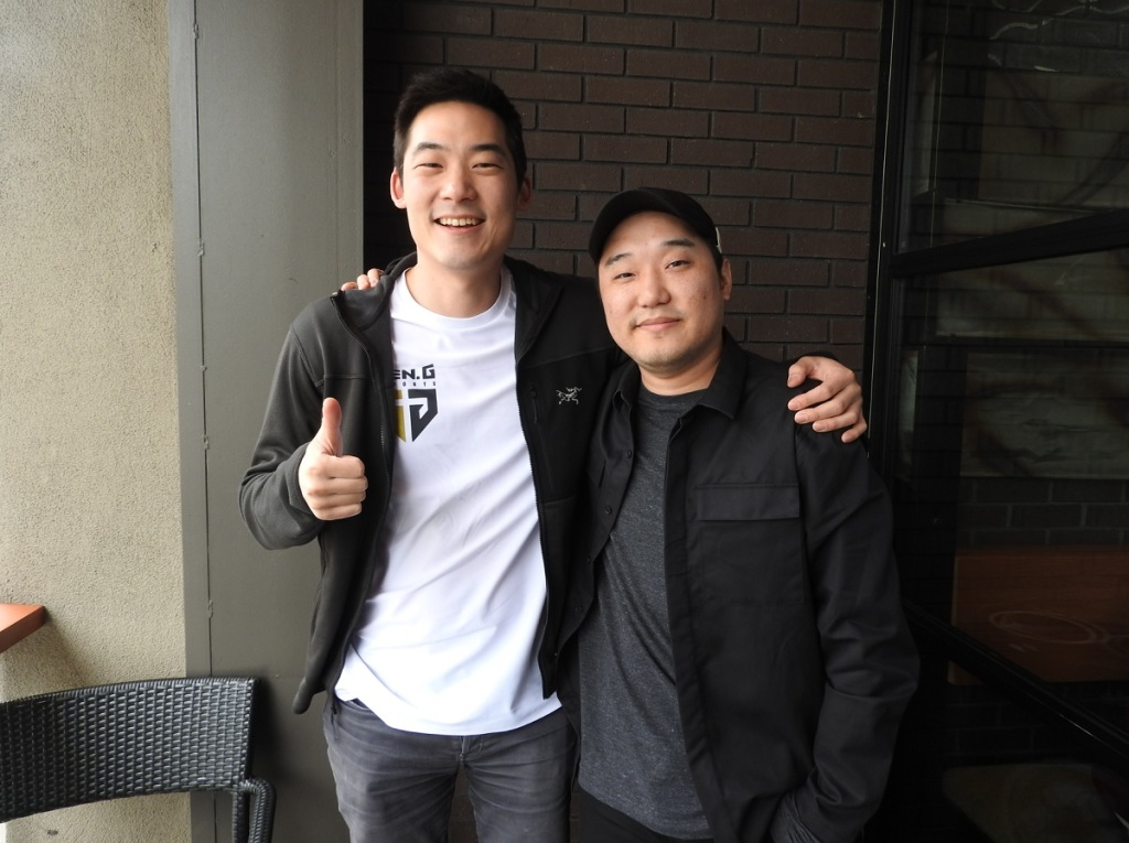 Arnold Hur (left) and Justin Choi of Gen.G.