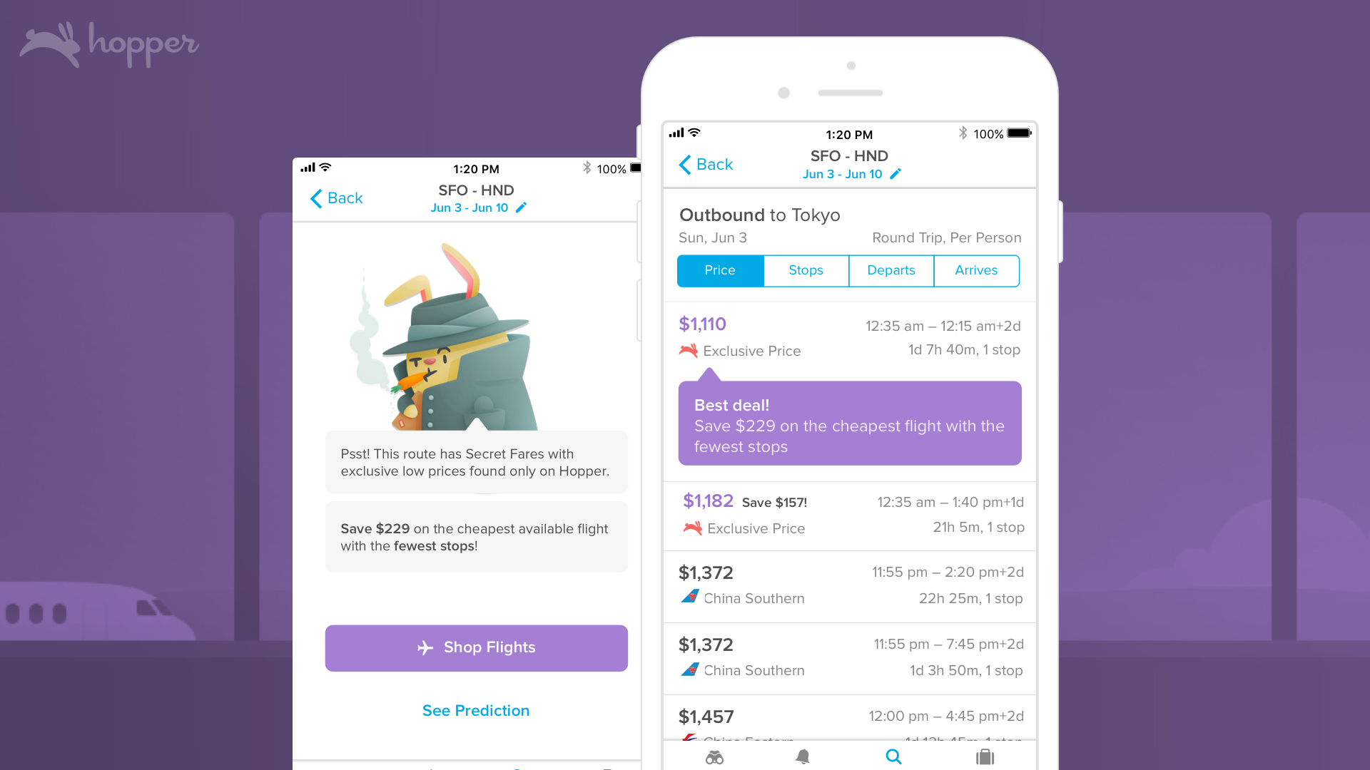 From Hopper, Exclusive Flight Deals Sent Directly to Phones