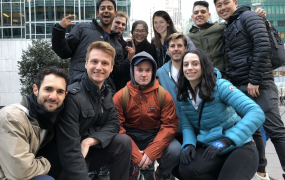 The Pymetrics team outside company offices in New York City