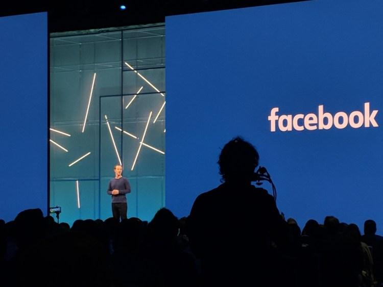 Facebook CEO Mark Zuckerberg at F8 developer conference