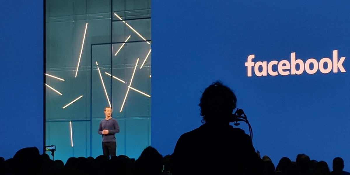 Facebook CEO Mark Zuckerberg at F8 developer conference
